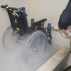Micro Cleaner Dampf Reinigung Rollstuhl