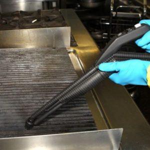 Reinigung Grillfläche Micro Cleaner Trockendampf