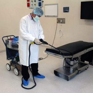 Reinigung Behandlungsliege Micro Cleaner Trockendampf